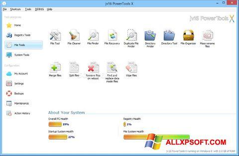 Снимка на екрана jv16 PowerTools за Windows XP