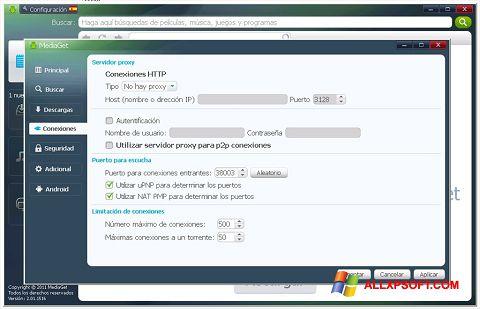 Снимка на екрана MediaGet за Windows XP