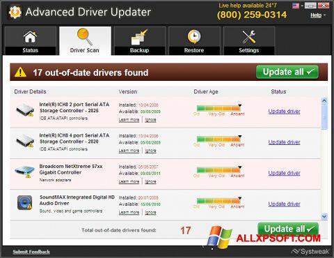 Снимка на екрана Advanced Driver Updater за Windows XP