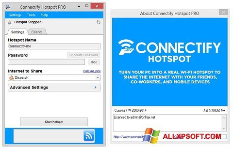 Снимка на екрана Connectify Hotspot за Windows XP