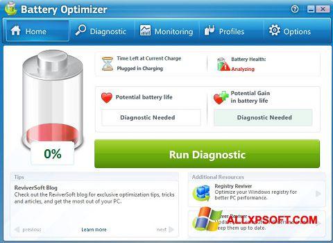 Снимка на екрана Battery Optimizer за Windows XP