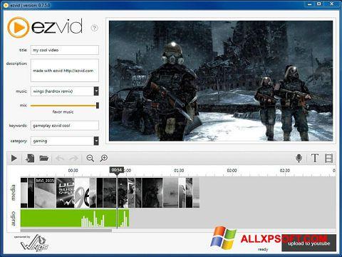 Снимка на екрана Ezvid за Windows XP