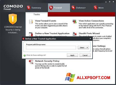 Снимка на екрана Comodo Firewall за Windows XP