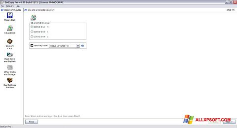 Снимка на екрана BadCopy Pro за Windows XP