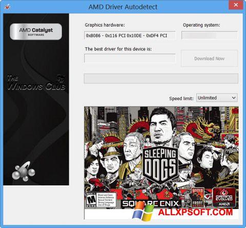Снимка на екрана AMD Driver Autodetect за Windows XP