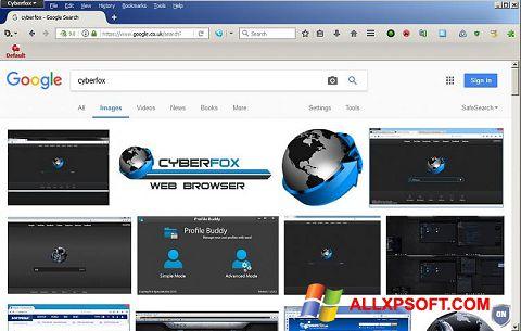 Снимка на екрана Cyberfox за Windows XP
