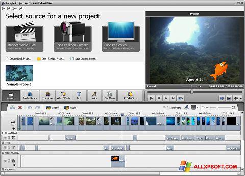 Снимка на екрана AVS Video Editor за Windows XP