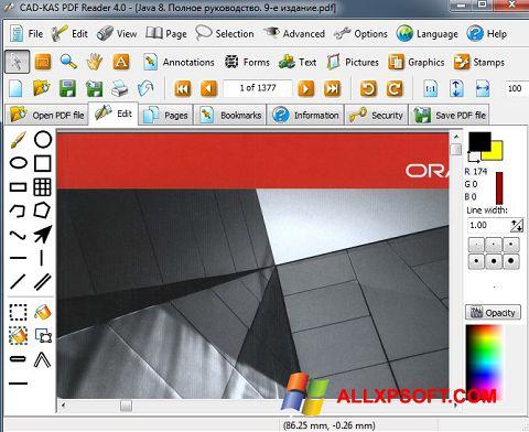 Снимка на екрана PDF Reader за Windows XP