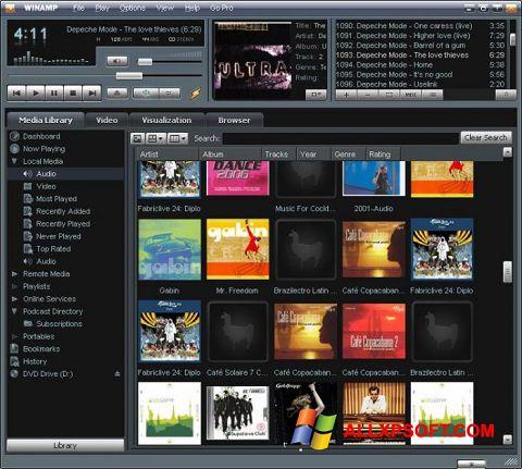 Снимка на екрана Winamp за Windows XP