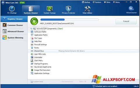 Снимка на екрана Wise Care 365 за Windows XP