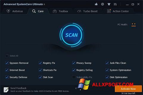 Снимка на екрана Advanced SystemCare Ultimate за Windows XP