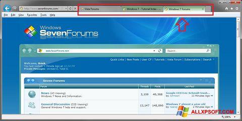 Снимка на екрана Internet Explorer за Windows XP