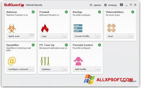 Снимка на екрана BullGuard за Windows XP