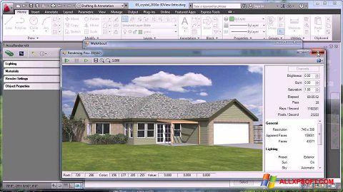 Снимка на екрана AutoCAD за Windows XP