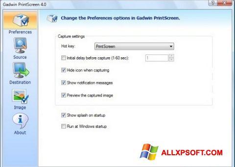 Снимка на екрана Gadwin PrintScreen за Windows XP