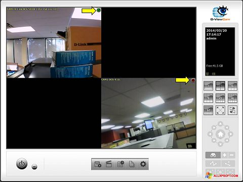 Снимка на екрана D-ViewCam за Windows XP
