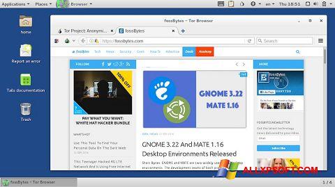 Снимка на екрана Tor Browser за Windows XP