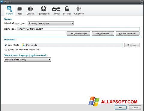 Снимка на екрана Comodo IceDragon за Windows XP