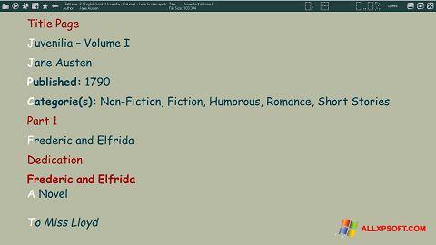Снимка на екрана ICE Book Reader за Windows XP