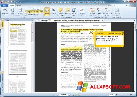 Снимка на екрана Nitro PDF Reader за Windows XP