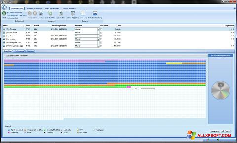 Снимка на екрана PerfectDisk за Windows XP