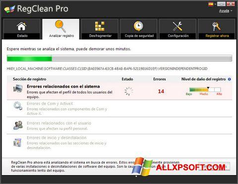 Снимка на екрана RegClean Pro за Windows XP