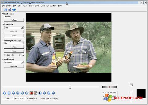 Снимка на екрана Avidemux за Windows XP