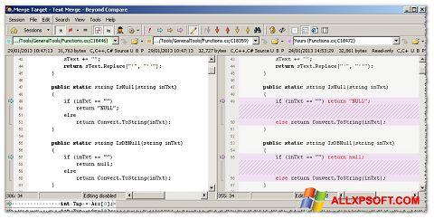 Снимка на екрана Beyond Compare за Windows XP