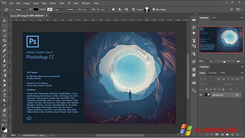 Снимка на екрана Adobe Photoshop за Windows XP
