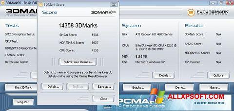 Снимка на екрана 3DMark06 за Windows XP
