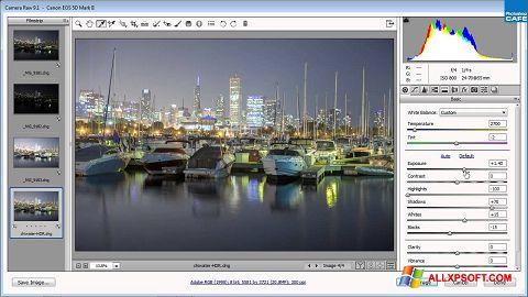Снимка на екрана Adobe Camera Raw за Windows XP