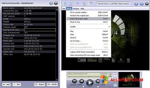 Снимка на екрана FLV Player за Windows XP