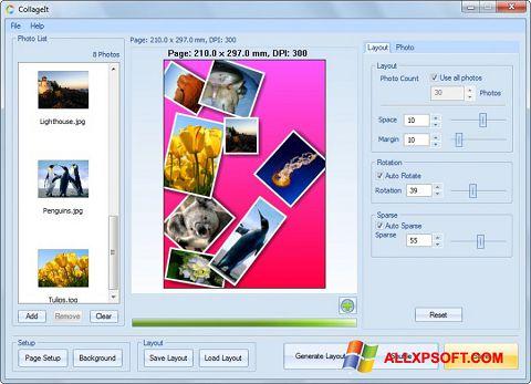 Снимка на екрана CollageIt за Windows XP