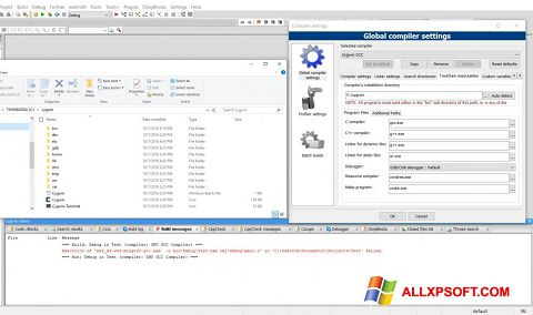 Снимка на екрана Cygwin за Windows XP
