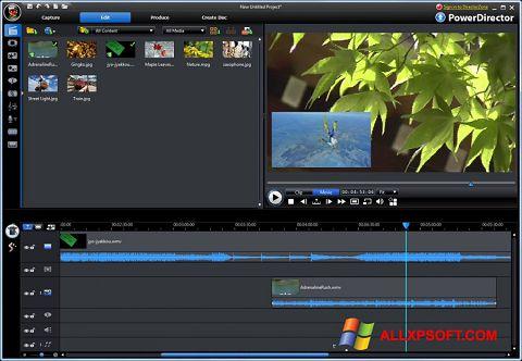 Снимка на екрана CyberLink PowerDirector за Windows XP