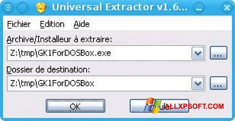 Снимка на екрана Universal Extractor за Windows XP