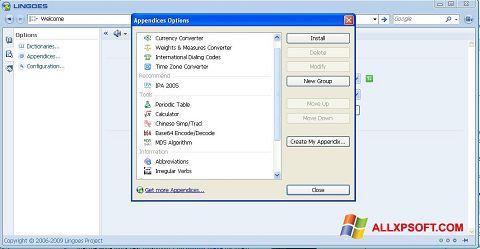 Снимка на екрана Lingoes за Windows XP