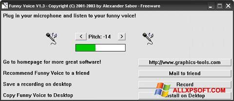 Снимка на екрана Funny Voice за Windows XP