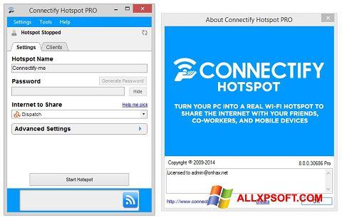 Снимка на екрана Connectify за Windows XP