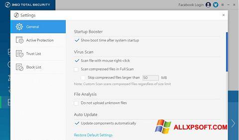 Снимка на екрана 360 Total Security за Windows XP