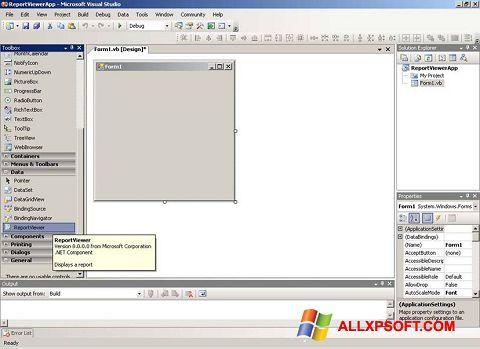 Снимка на екрана Microsoft Visual Studio за Windows XP