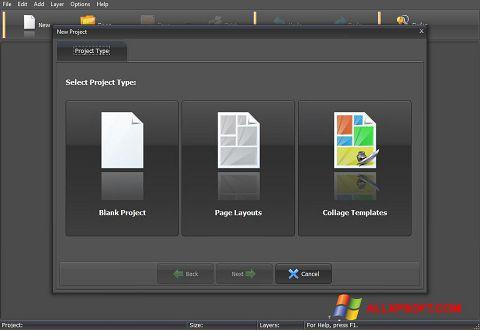 Снимка на екрана PhotoMix Collage за Windows XP