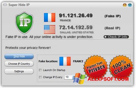 Снимка на екрана Super Hide IP за Windows XP