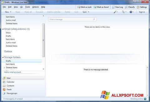 Снимка на екрана Windows Live Mail за Windows XP