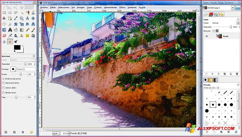 Снимка на екрана GIMP за Windows XP