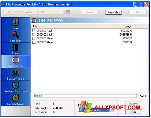 Снимка на екрана Flash Memory Toolkit за Windows XP