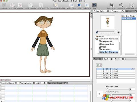 Снимка на екрана Toon Boom Studio за Windows XP