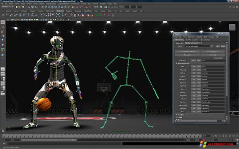 Снимка на екрана Autodesk Maya за Windows XP