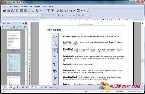 Снимка на екрана Infix PDF Editor за Windows XP