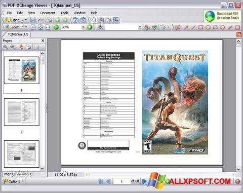 Снимка на екрана PDF-XChange Viewer за Windows XP
